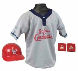 St Louis Cardinals YOUTH Helmet and Jersey Set