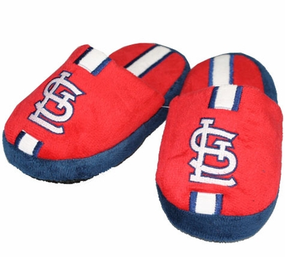 St Louis Cardinals YOUTH Team Stripe Slide Slippers