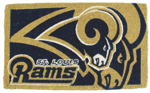 St Louis Rams 18x30 Bleached Welcome Mat