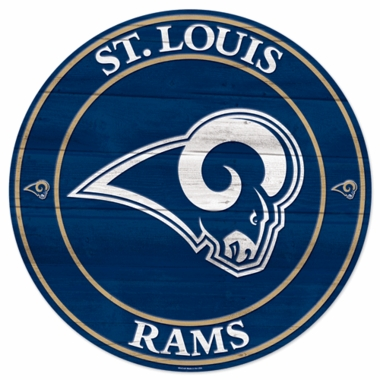 St Louis Rams 19.75 Inch Wood Sign