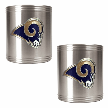 St Louis Rams 2 Can Holder Set