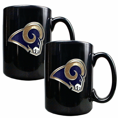 St Louis Rams 2 Piece Coffee Mug Set