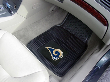 St Louis Rams 2 Piece Heavy Duty Vinyl Car Mats