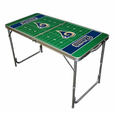 St Louis Rams 2 x 4 Foot Tailgate Table