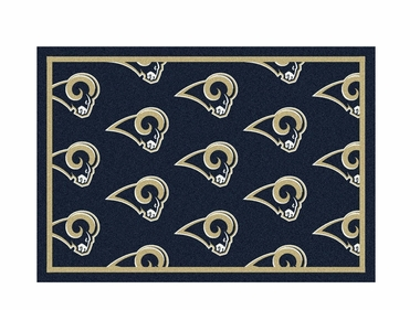 "Los Angeles Rams 3'10"" x 5'4"" Premium Pattern Rug"