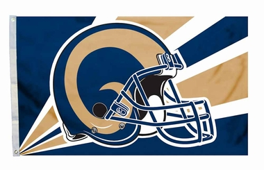Los Angeles Rams 3'x5' Helmet Design Flag