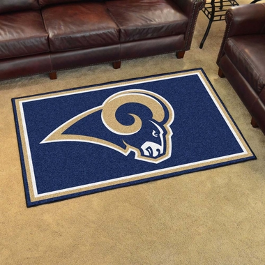 Los Angeles Rams 4 Foot x 6 Foot Rug
