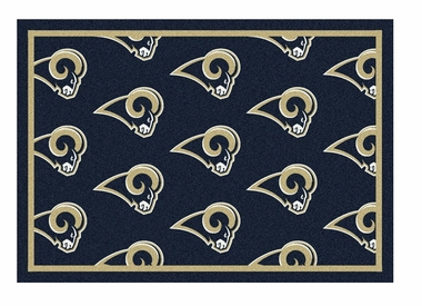 "Los Angeles Rams 5'4"" x 7'8"" Premium Pattern Rug"