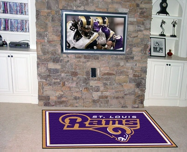 St Louis Rams 5 Foot x 8 Foot Rug