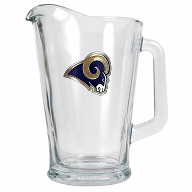 St Louis Rams 60 oz Glass Pitcher