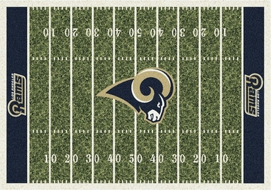 "Los Angeles Rams 7'8"" x 10'9"" Premium Field Rug"