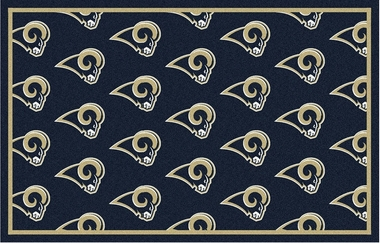 "Los Angeles Rams 7'8 x 10'9"" Premium Pattern Rug"