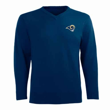 St Louis Rams Mens Ambassador Sweater (Team Color: Navy)