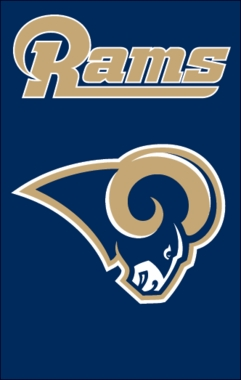 St Louis Rams Applique Banner Flag