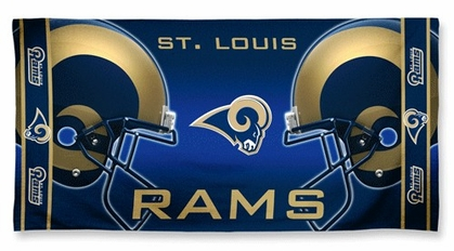 St Louis Rams Beach Towel