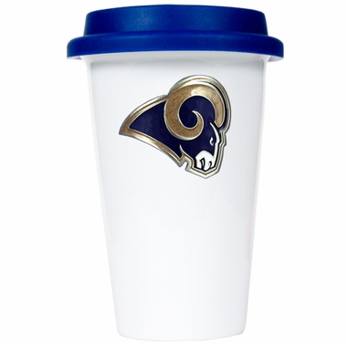 St Louis Rams Ceramic Travel Cup (Team Color Lid)
