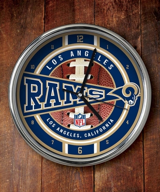 Los Angeles Rams Chrome Clock