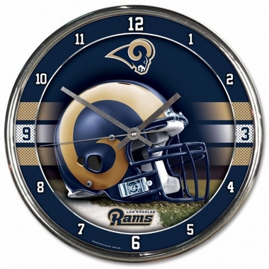 Los Angeles Rams Round Chrome Wall Clock