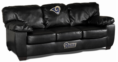 Los Angeles Rams Leather Classic Sofa