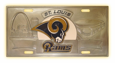 St Louis Rams Deluxe Collector's License Plate