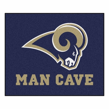 Los Angeles Rams Economy 5 Foot x 6 Foot Man Cave Mat