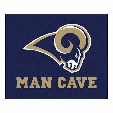 St Louis Rams Economy 5 Foot x 6 Foot Man Cave Mat
