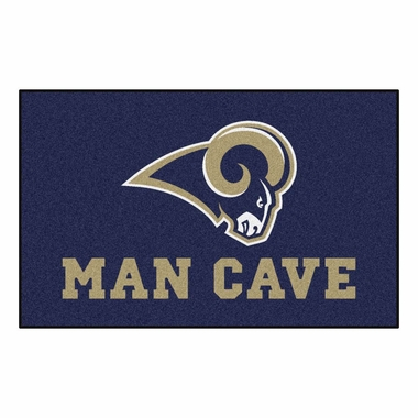 Los Angeles Rams Economy 5 Foot x 8 Foot Man Cave Mat