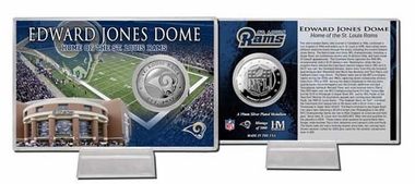 St. Louis Rams Edward Jones Dome Silver Coin Card