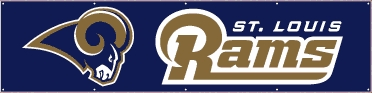 St Louis Rams Eight Foot Banner