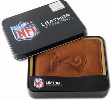 St Louis Rams Embossed Leather Bifold Wallet