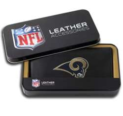 St Louis Rams Embroidered Leather Checkbook Cover