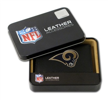 St Louis Rams Embroidered Leather Tri-Fold Wallet