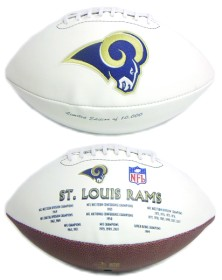 St Louis Rams Embroidered Signature Series Football