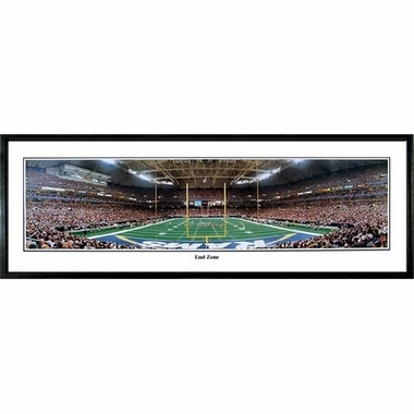 St Louis Rams End Zone Framed Panoramic Print