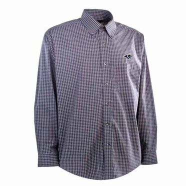 St Louis Rams Mens Esteem Check Pattern Button Down Dress Shirt (Team Color: Navy)