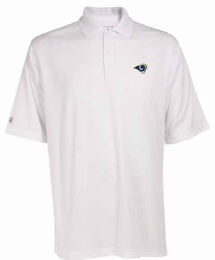 St Louis Rams Mens Exceed Polo (Color: White)