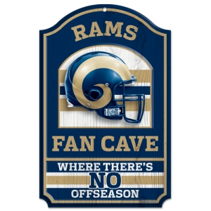 St Louis Rams Fan Cave Wood Sign