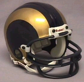 St Louis Rams Football Helmet - Mini Replica