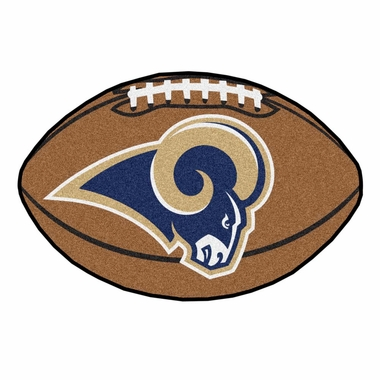 Los Angeles Rams Football Shaped Rug