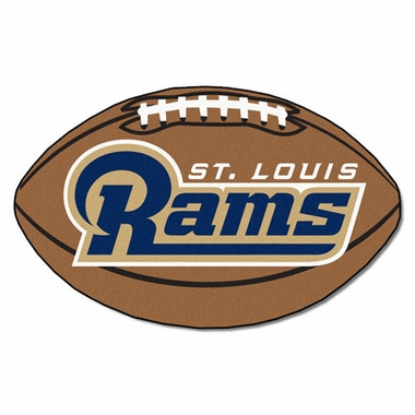 St Louis Rams Football Shaped Rug
