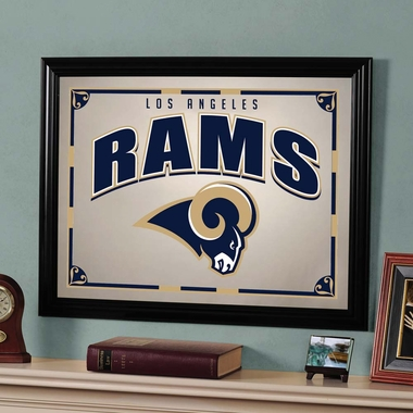Los Angeles Rams Framed Mirror