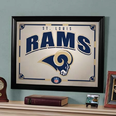St Louis Rams Framed Mirror