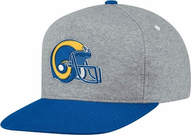 Los Angeles Rams Heather Pinch Panel Snap Back Hat