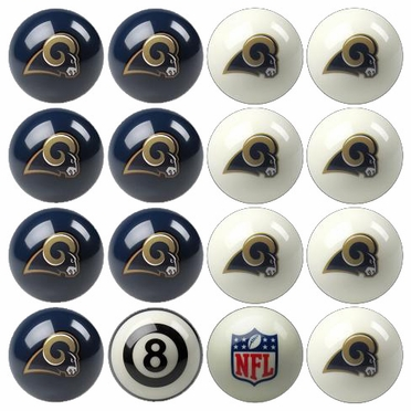 St Louis Rams Home and Away Complete Billiard Ball Set
