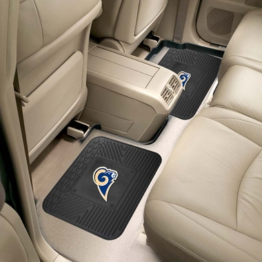 Los Angeles Rams SET OF 2 Heavy Duty Vinyl Rear Car Mats