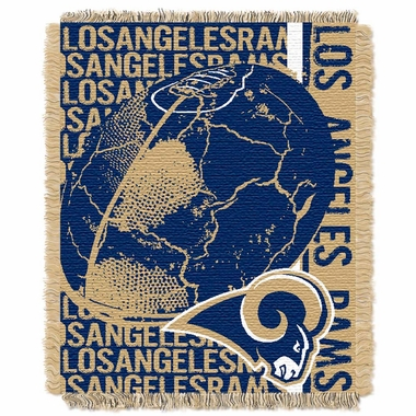 Los Angeles Rams Jacquard Woven Throw Blanket