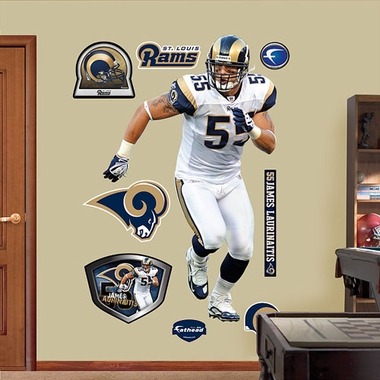 St. Louis Rams James Laurinaitis Fathead Wall Graphic