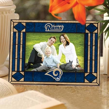 St Louis Rams Landscape Art Glass Picture Frame