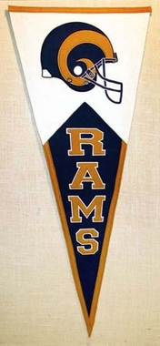 Los Angeles Rams Large Wool Pennant
