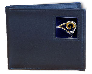 St Louis Rams Leather Bifold Wallet (F)